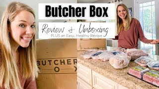 BUTCHER BOX UNBOXING & REVIEW | EASY, HEALTHY RECIPE | Britt Brings It Home