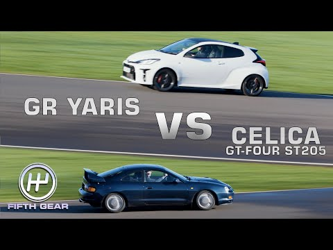 Toyota GR Yaris vs Celica GT-Four ST205 - Shootout OLD VS NEW | Fifth Gear