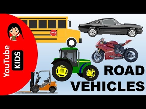 Learn Road Transport Vehicles Names and Sounds - YouTube Kids