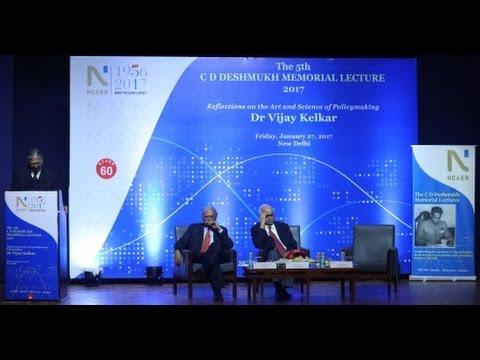 NCAER's 5th C D Deshmukh Memorial Lecture 2017-O