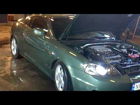 Hyundai Tiburon transformation from 1.6 L to 2.7 L V6.mp4
