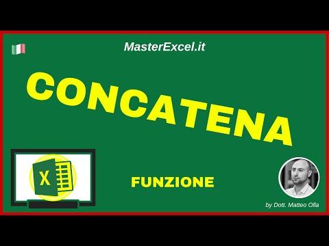 MasterExcel.it - Tutorial Funzione Concatena Excel - Come unire valori e stringhe di testo