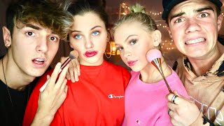 Doing Our GIRLFRIEND'S Makeup... Ft. Bryce Hall, Jordyn Jones, and Elle