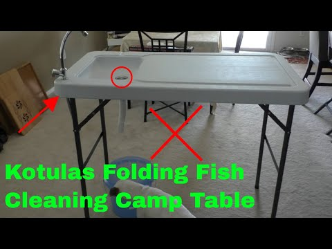 ✅  How To Use Kotulas Folding Fish Cleaning Camp Table Review