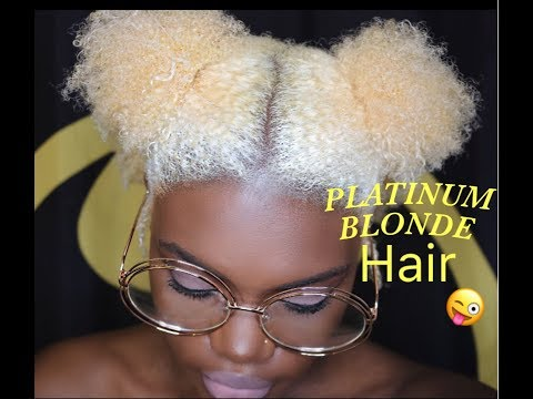 HOW I BLEACH & TONE MY Natural Hair FROM BLACK TO PLATINUM BLONDE