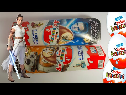 STAR Wars KINDER Surprise EGGS 2019 Unboxing NEW Toys!
