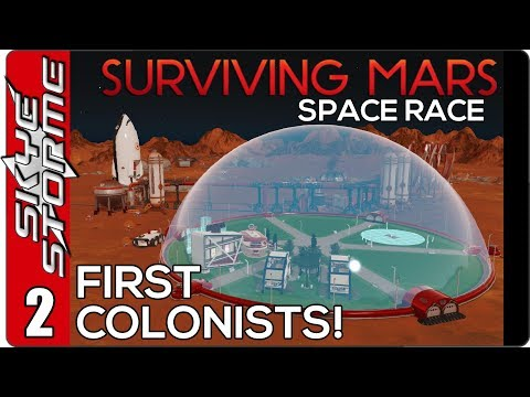 ► FIRST COLONISTS! ◀  Surviving Mars Space Race - Japan Ep 2
