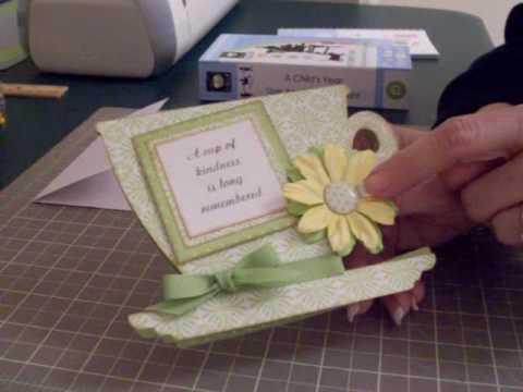 Cricut Teacup Card - YouTube