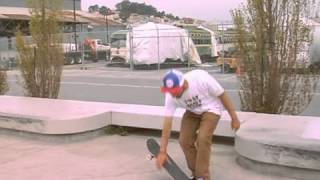 Skateboard Tricks: Switch Front Side Big Spin Foot Position