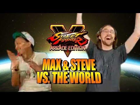 MAX & STEVE VS. THE WORLD: Mash The Super! Street Fighter 5 Online Matches