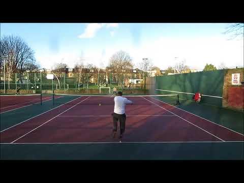 Telly Tubby Tennis Match Jung v Michael (4-6) 31stJan2018 at Rosemary Gardens