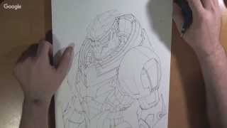 Realtime: Drawing Mass Effect Legion