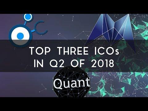 Top Three ICOs for Quarter 2 of 2018