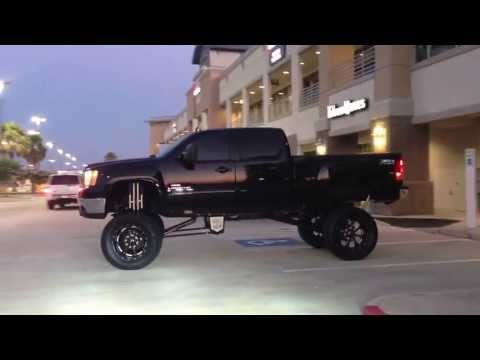 Ship horns on a lifted truck.