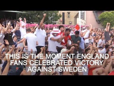 How England Fans Celebrated Sweden Win -...
