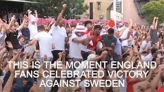 How England Fans Celebrated Sweden Win - Russia 2018 World Cup