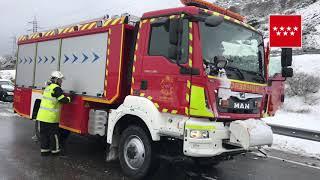 35 مصابا جراء تصادم عشرات السيارات وسط إسبانيا (فيديو)