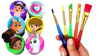 Nella the Princess Knight Drawing & Painting with Surprise Toys Trinket Garrett Clod Baby Norma