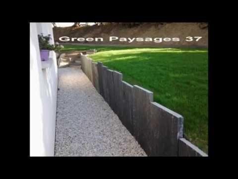 dalle de schiste paysagiste green paysages 37 paysagiste. Black Bedroom Furniture Sets. Home Design Ideas