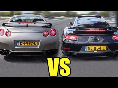 Porsche 911 Turbo S vs Nissan GTR R35 - DRAG RACE!
