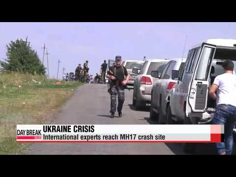 International experts reach MH17 crash site in Ukraine