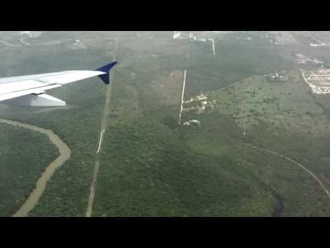 Beautiful Belize City BZE Landing - Delta Flight 703 from At