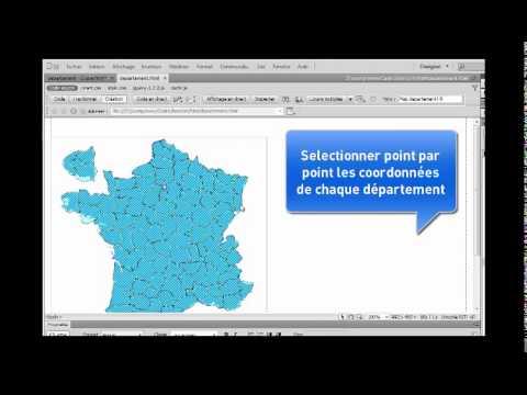carte de france avec les départements - YouTube