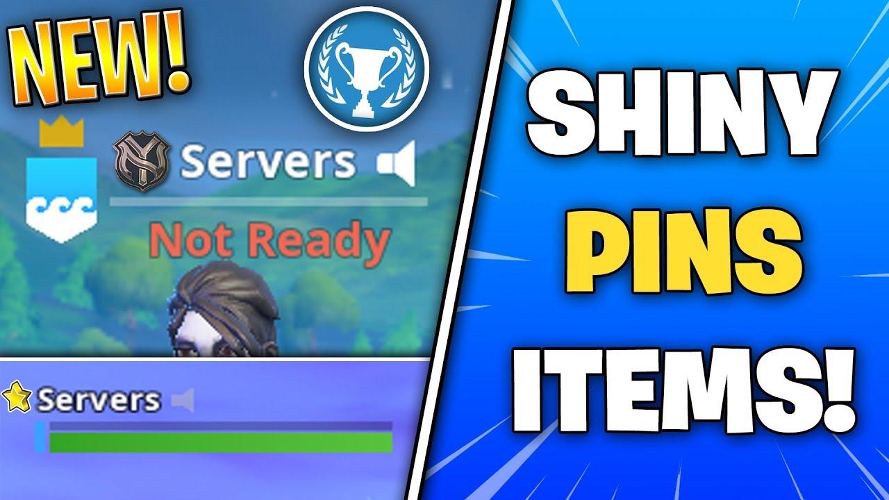 Fortnite SHINY PINS BADGE REWARDS! (Exclusive Username Icons