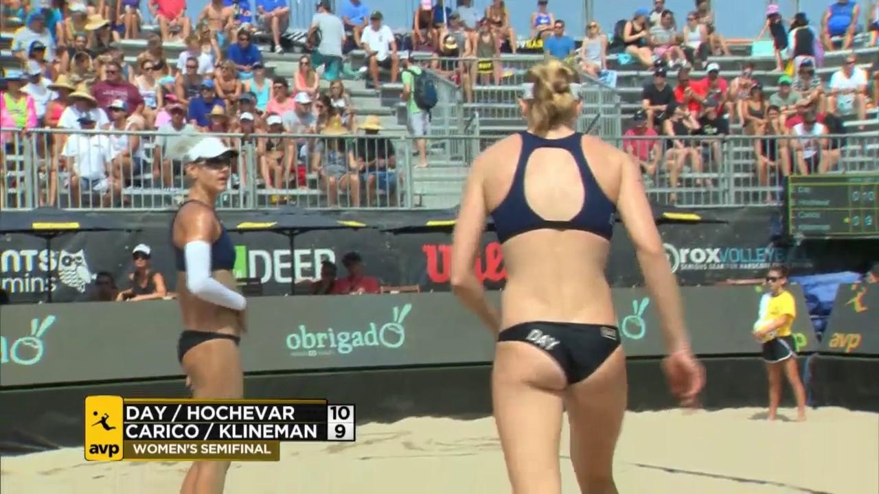 Avp Hermosa Beach Open 2017 Women S Semi Finals Day Hochevar Vs Carico Klineman Volleyball