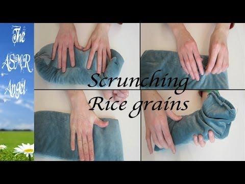 ASMR Sound Segment - Rice Bag Tapping and Scratching - No talking (Binaural  - 3D Sound)
