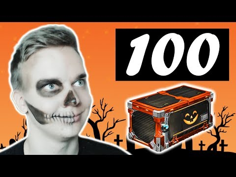 100 Haunted Hallows Crate Items GIVEAWAY (Rocket League Crate Opening)