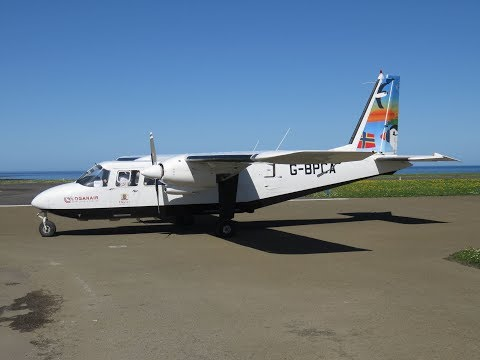 Loganair BN-2B-26 - Shortest commercial flight from Papa Westray (PPW) to Westray (WRY), Scotland