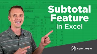 How To Use The Subtotal Feature And The SUBTOTAL Function In Excel