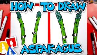 How To Draw Funny Asparagus Friends