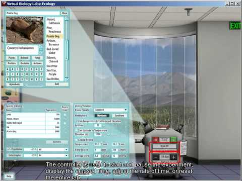 Virtual Biology 15 - Ecology lab overview