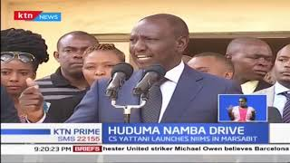 DP William Ruto leads his family for Huduma  Namba registration in Lang'ata