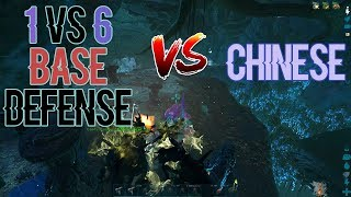 1 vs 6 Base Defense | Ark: Official PVP | Small Tribes