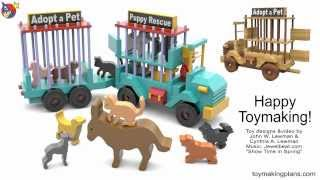 Wood Toy Plans - Puppy Rescue