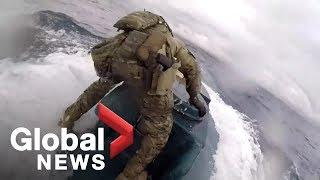 U.S. Coast Guard storms narco-submarine in huge Pacific Ocean drug bust