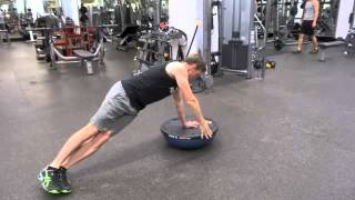Tennis Fitness- Bosu Plank with Lateral Leg Raise