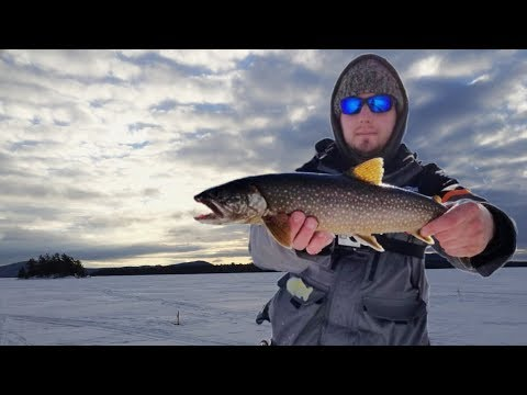 I WON! - Moosehead Lake Ice Fishing
