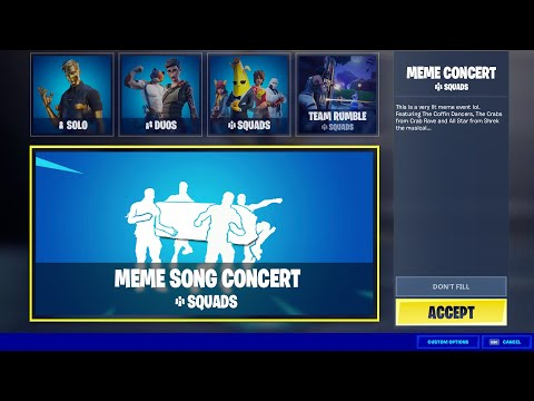 Loading into Fortnite MEME Concert! (Event Concept)