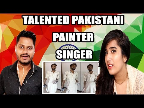 Indian Reaction On Pakistani Painter Singer | He Deserves to go Viral | Krishna Views thumbnail