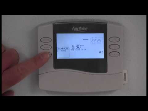 Aprilaire 8463 Thermostat Instructional Video
