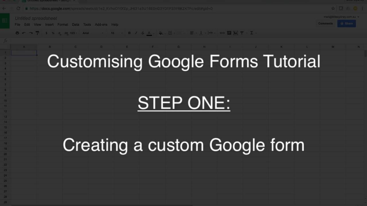 Custom Google Forms Tutorial Step1 - YouTube