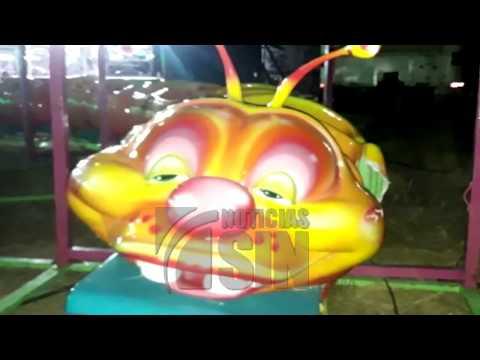 Ni�a muere al descarrilarse juego mec�nico en Panam�