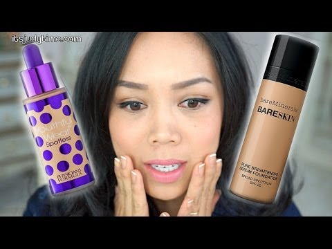 NEW Bare Minerals Bare Skin Serum Foundation vs. Physicians Formula Youthful Wear foundation review