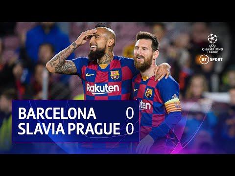 Barcelona vs Slavia Prague (0-0) | UEFA Champions League Highlights