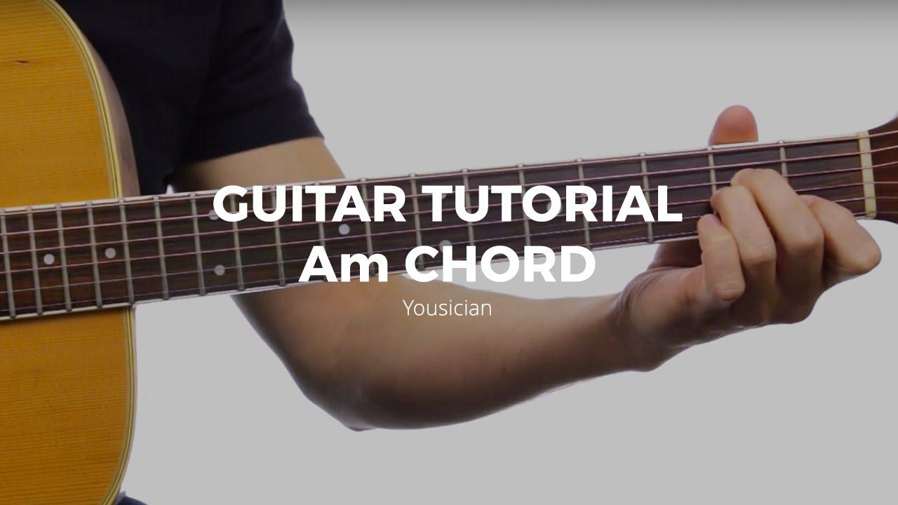 Guitar Tutorial   Am Chord