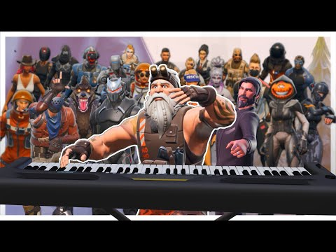 "24 players plays ""All I want for Christmas is you"" on Fortnite piano"
